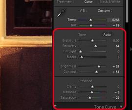 Photoshop / Lightroom RAW tone curve adjustments