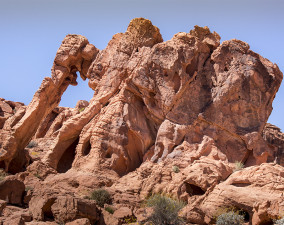 Elephant Rock at Valley of Fire State Park in Nevada
